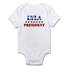 LYLA for president Infant Bodysuit