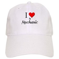 I Love My Mechanic Baseball Cap