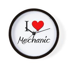 I Love My Mechanic Wall Clock