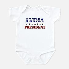 LYDIA for president Onesie