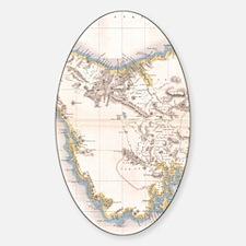 Unique Antique maps Sticker (Oval)