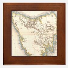 Funny Map Framed Tile