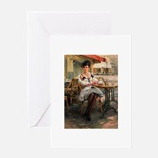 Une Parisienne Greeting Cards