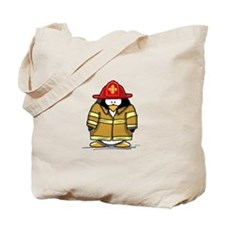 Fire Rescue Penguin Tote Bag