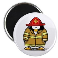 Fire Rescue Penguin Magnet