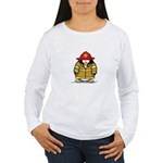 Fire Rescue Penguin Women's Long Sleeve T-Shirt