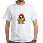 Fire Rescue Penguin White T-Shirt