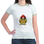 Fire Rescue Penguin Jr. Ringer T-Shirt