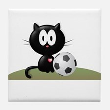 Soccer Kitty Tile Coaster