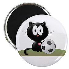 """Soccer Kitty 2.25"""" Magnet (10 pack)"""