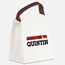 Addicted to Quintin Canvas Lunch Bag