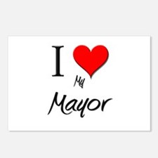 I Love My Mayor Postcards (Package of 8)
