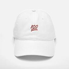 glitter one hundred emoji Baseball Baseball Cap