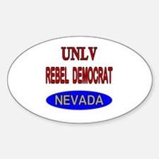 Unique Unlv rebels Sticker (Oval)