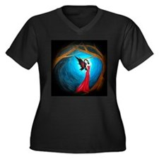 Women's Plus Size V-Neck Dark Faerie T Shirt