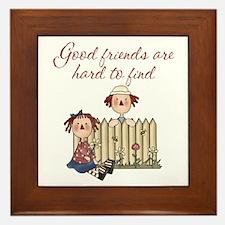 Good Friends Are Hard To Find Framed Tile