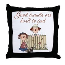 Good Friends Are Hard To Find Throw Pillow