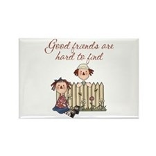 Good Friends Are Hard To Find Rectangle Magnet