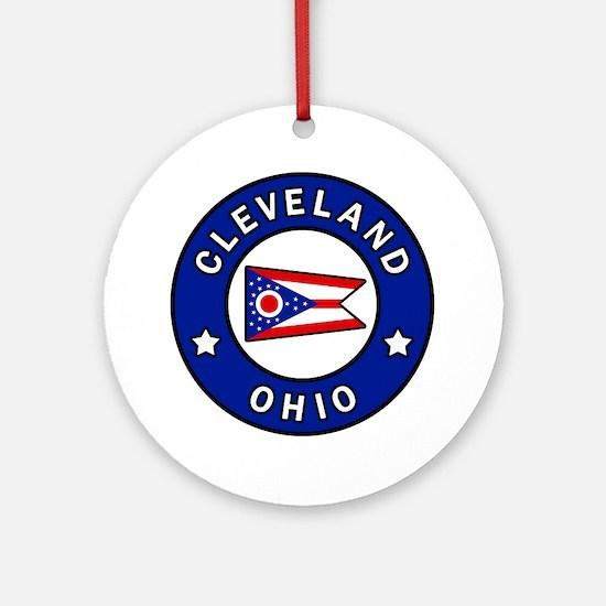Cleveland Ohio Round Ornament