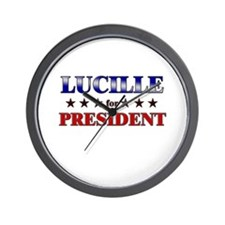 LUCILLE for president Wall Clock