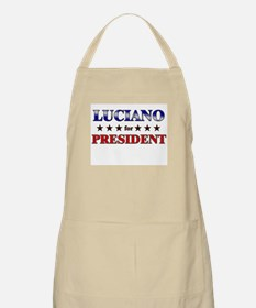LUCIANO for president BBQ Apron