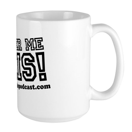 the Answer Me This! Podcast mug