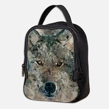 Watercolor Wolf Neoprene Lunch Bag