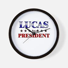 LUCAS for president Wall Clock