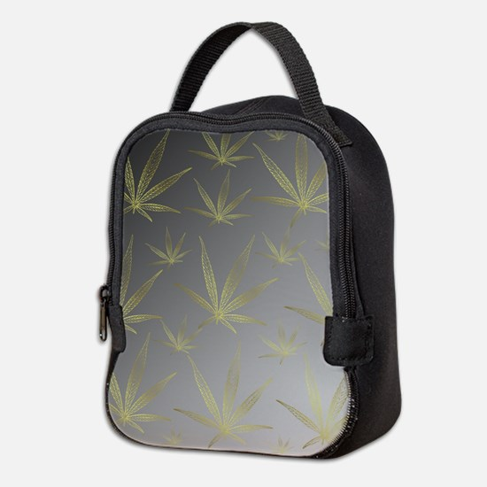 silver,cannabis leaf a delicate Neoprene Lunch Bag