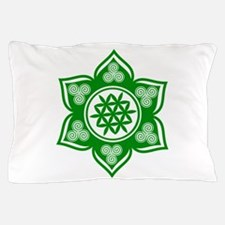 Triple Goddess Lotus Love Green Pillow Case