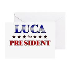 LUCA for president Greeting Card