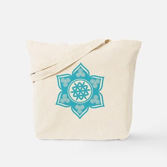 Triple Goddess Lotus Love 10 Tote Bag