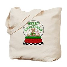 Merry Chrismas Snow Globe BEA Tote Bag