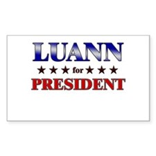 LUANN for president Rectangle Decal