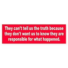 THE TRUTH Bumper Bumper Sticker