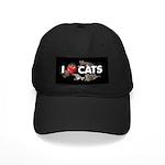 """Black Cap """"I love Cats"""""""