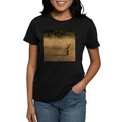 Sitting Jackrabbit Women's Dark T-Shirt