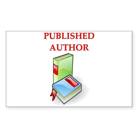 author t-shirts gifts Rectangle Sticker