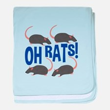 Oh Rats baby blanket
