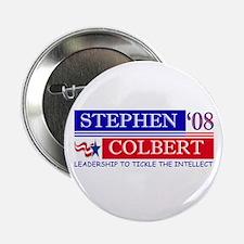 """Stephen Colbert Tickles 2.25"""" Button"""