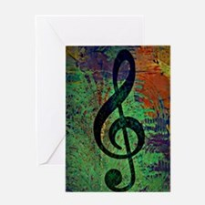 Funny Treble clef Greeting Card