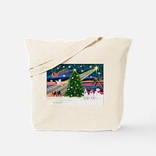 Xmas Magic & JRT pair Tote Bag