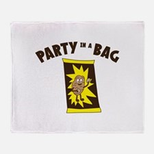 Party In Bag Throw Blanket