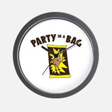 Party In Bag Wall Clock