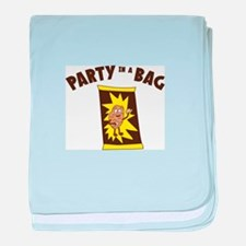 Party In Bag baby blanket