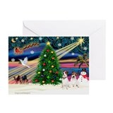 Jack russell terrier christmas Greeting Cards (20 Pack)