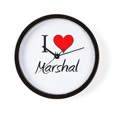 I Love My Marshal Wall Clock