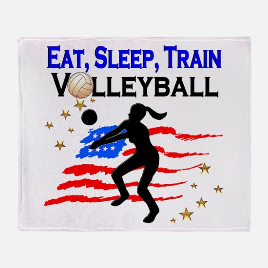 VOLLEYBALL STAR Throw Blanket