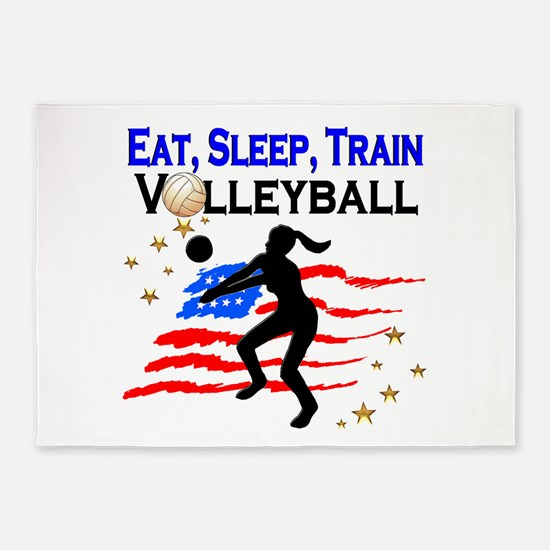 VOLLEYBALL STAR 5'x7'Area Rug