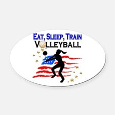 VOLLEYBALL STAR Oval Car Magnet
